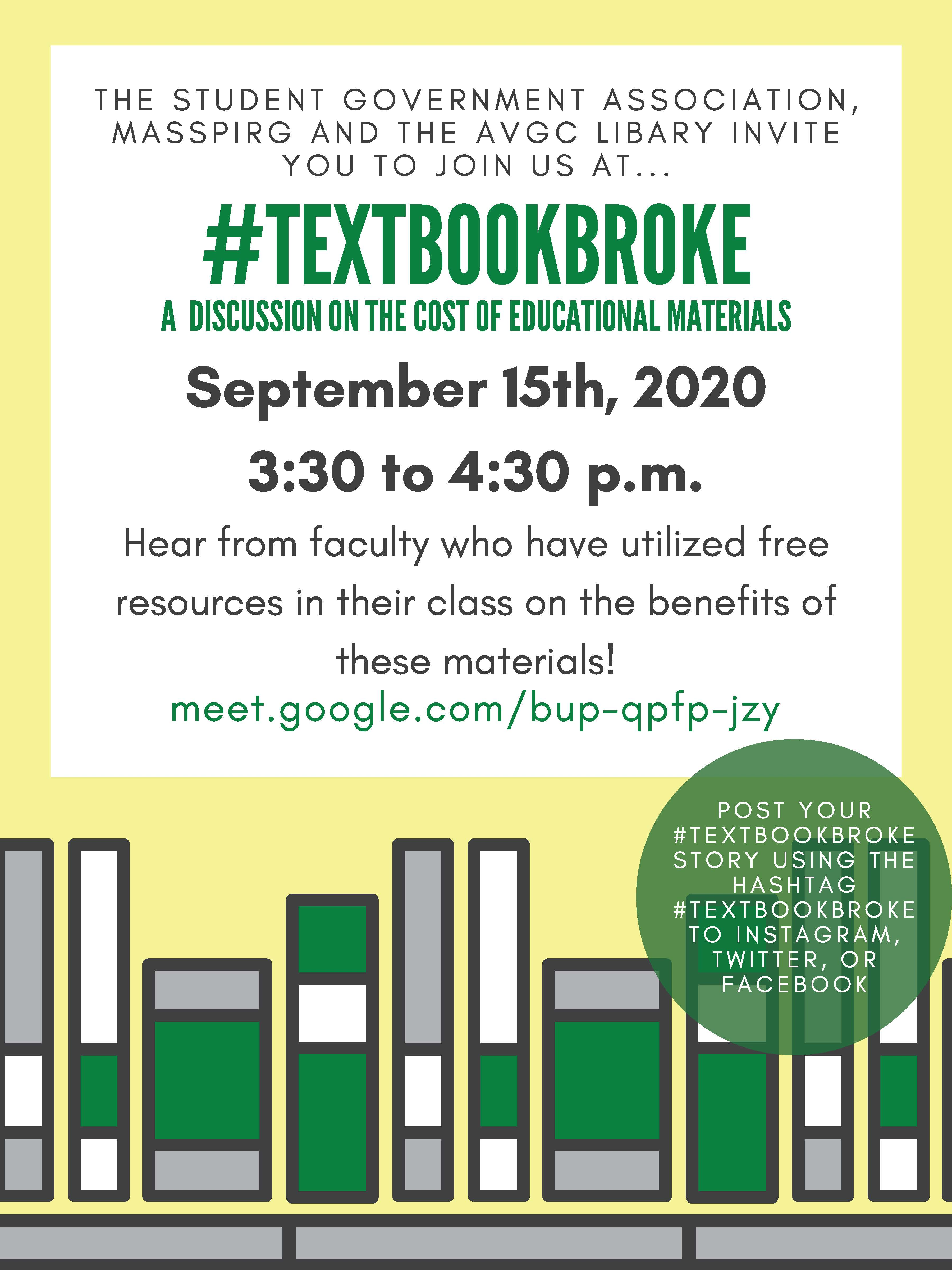 #TextBookBroke: A Discussion on the Cost of Educational Materials